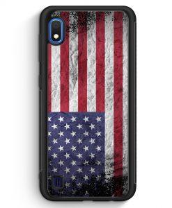 Samsung Galaxy A10 Silikon Hülle - USA Amerika Splash Flagge