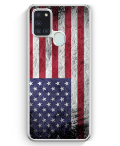 Samsung Galaxy A21s Hülle - USA Amerika Splash Flagge