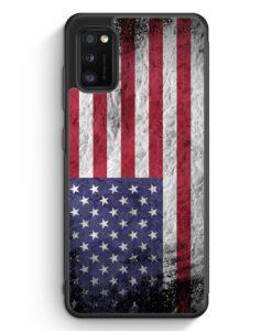 Samsung Galaxy A41 Silikon Hülle - USA Amerika Splash Flagge
