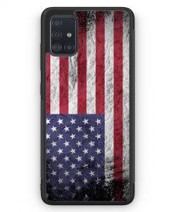 Samsung Galaxy A51 Silikon Hülle - USA Amerika Splash Flagge