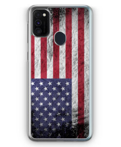 Samsung Galaxy M21 Hülle - USA Amerika Splash Flagge