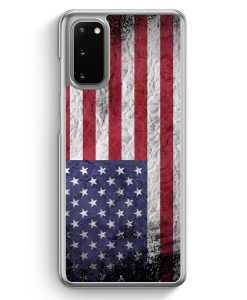 Samsung Galaxy S20 Hülle - USA Amerika Splash Flagge