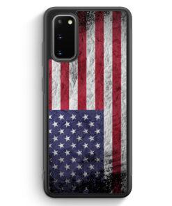 Samsung Galaxy S20 FE Silikon Hülle - USA Amerika Splash Flagge