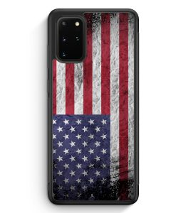 Samsung Galaxy S20+ Plus Silikon Hülle - USA Amerika Splash Flagge