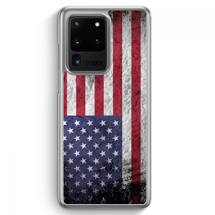 Samsung Galaxy S20 Ultra Hülle - USA Amerika Splash Flagge