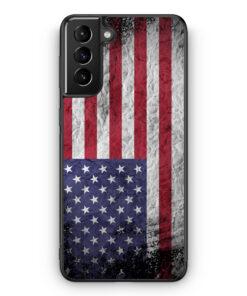 Samsung Galaxy S21 Silikon Hülle - USA Amerika Splash Flagge