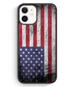 iPhone 12 Silikon Hülle - USA Amerika Splash Flagge