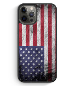 iPhone 12 Pro Max Silikon Hülle - USA Amerika Splash Flagge
