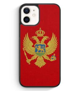 iPhone 12 Silikon Hülle - Montenegro Flagge
