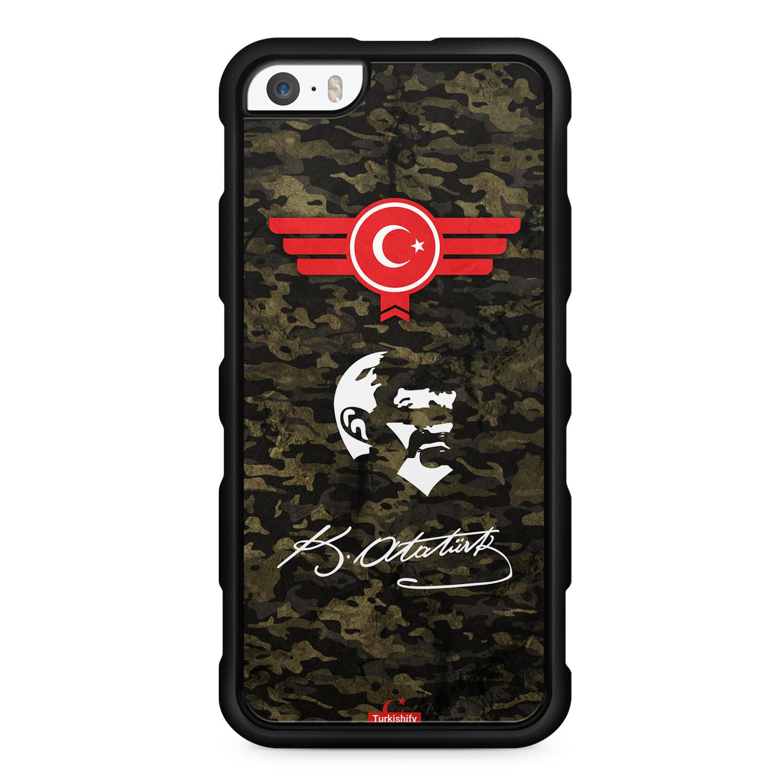 Atatürk Türkiye Türkei Camouflage - Silikon Handyhülle für iPhone SE