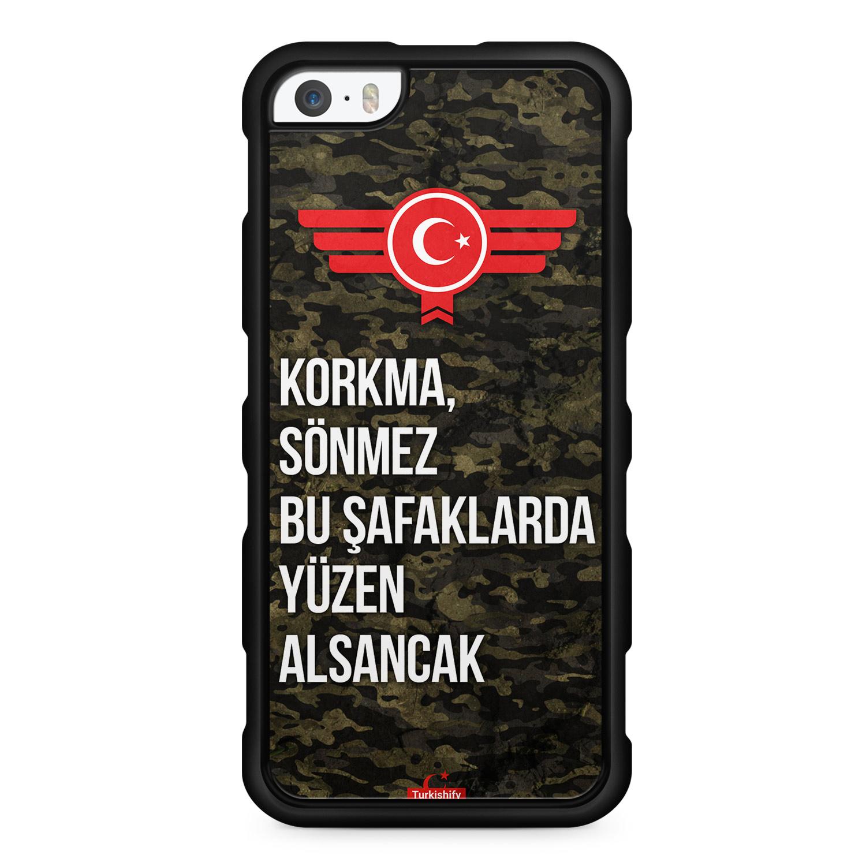 Korkma Sönmez Türkiye Türkei Camouflage - Silikon Handyhülle für iPhone SE