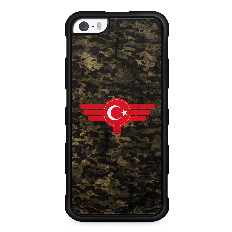 Türkiye Türkei Camouflage - Silikon Handyhülle für iPhone SE