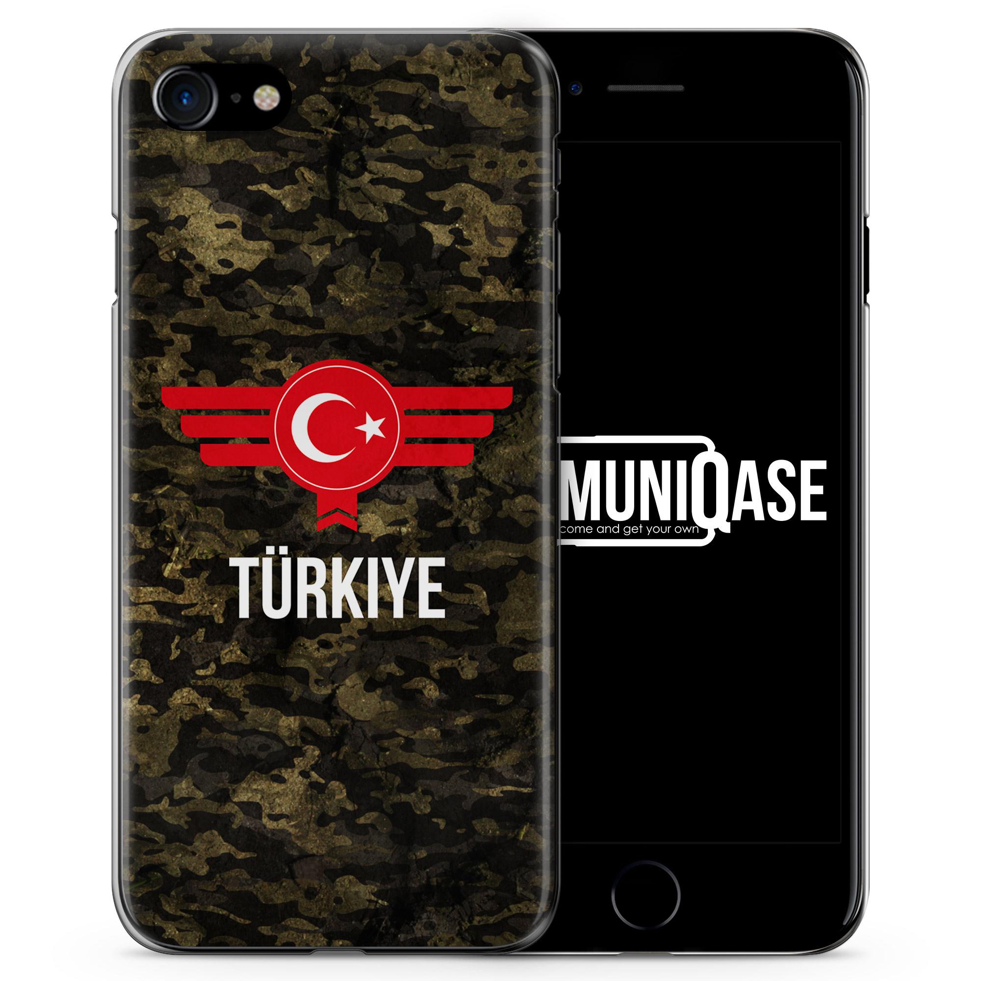Türkiye Türkei Camouflage mit Schriftzug - Slim Handyhülle für iPhone 7
