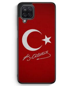 Samsung Galaxy A12 Silikon Hülle - Türkei + Atatürk