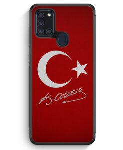 Samsung Galaxy A21s Silikon Hülle - Türkei + Atatürk