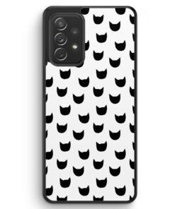 Katzen Muster - Silikon Hülle für Samsung Galaxy A32