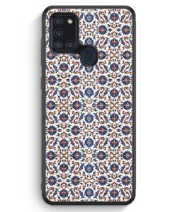 Samsung Galaxy A21s Silikon Hülle - Iznik Muster Orientalisch #01