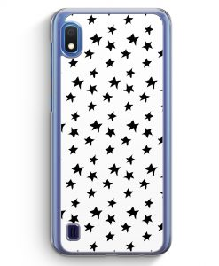 Samsung Galaxy A10 Hülle - Schwarze Sternen Muster