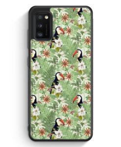 Samsung Galaxy A41 Silikon Hülle - Tukan Muster Tropisch