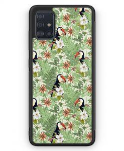 Samsung Galaxy A51 Silikon Hülle - Tukan Muster Tropisch