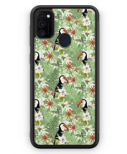 Samsung Galaxy M30s Silikon Hülle - Tukan Muster Tropisch