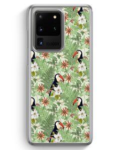 Samsung Galaxy S20 Ultra Hülle - Tukan Muster Tropisch