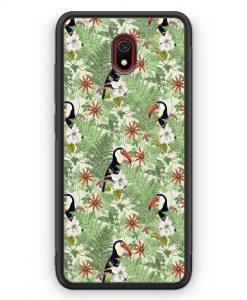 Xiaomi Redmi 8A Silikon Hülle - Tukan Muster Tropisch