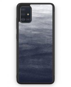 Samsung Galaxy A51 Silikon Hülle - Wasserfarben Muster Schwarz