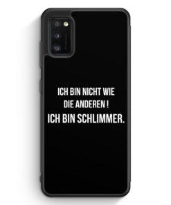 Samsung Galaxy A41 Silikon Hülle - Ich Bin Nicht Wie Die Anderen Schwarz