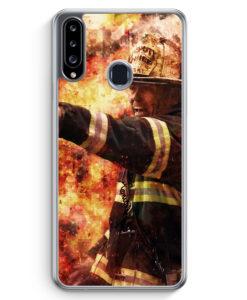 Samsung Galaxy A20s Hülle - Feuerwehr Foto