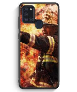 Samsung Galaxy A21s Silikon Hülle - Feuerwehr Foto