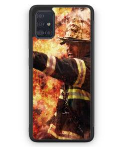 Samsung Galaxy A51 Silikon Hülle - Feuerwehr Foto