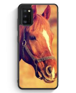 Samsung Galaxy A41 Silikon Hülle - Pferd Foto