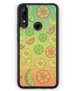 Huawei P Smart Z Silikon Hülle - Zitrus Limette Muster