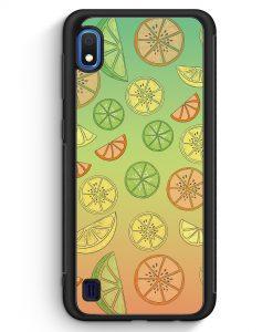 Samsung Galaxy A10 Silikon Hülle - Zitrus Limette Muster