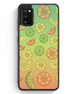 Samsung Galaxy A41 Silikon Hülle - Zitrus Limette Muster