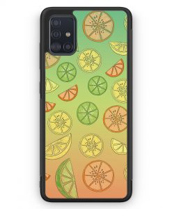 Samsung Galaxy A51 Silikon Hülle - Zitrus Limette Muster