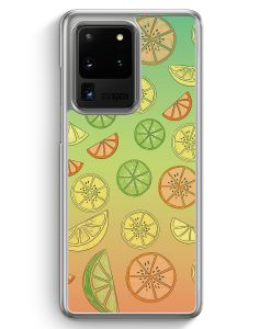 Samsung Galaxy S20 Ultra Hülle - Zitrus Limette Muster