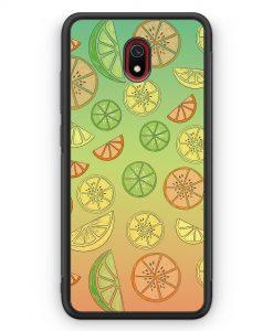 Xiaomi Redmi 8A Silikon Hülle - Zitrus Limette Muster