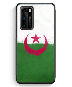 Huawei P40 Silikon Hülle - Algerien Algeria Grunge