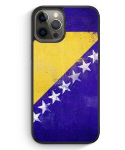 iPhone 12 Pro Silikon Hülle - Bosnien Grunge Bosna Bosnia