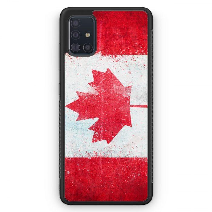 Samsung Galaxy A51 Silikon Hülle - Kanada Grunge Canada