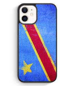 iPhone 12 Silikon Hülle - Demokratische Rebublik Kongo Grunge Congo