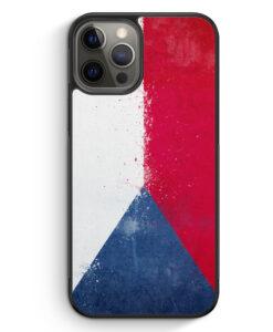 iPhone 12 Pro Silikon Hülle - Tschechien Grunge Czech