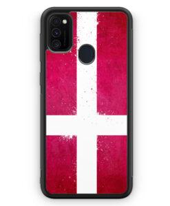 Samsung Galaxy M21 Silikon Hülle - Dänemark Grunge Denmark Danmark