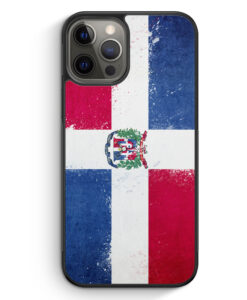 iPhone 12 Pro Max Silikon Hülle - Dominikanische Republik Grunge Dominican Republic