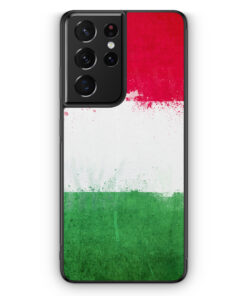 Samsung Galaxy S21 Ultra Silikon Hülle - Italien Grunge Italy Italia