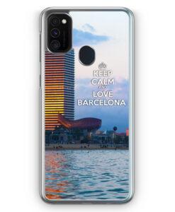 Samsung Galaxy M21 Hülle - Keep Calm And Love Barcelona