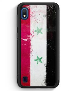 Samsung Galaxy A10 Silikon Hülle - Syrien Grunge