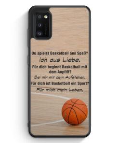 Samsung Galaxy A41 Silikon Hülle - Basketball Liebe